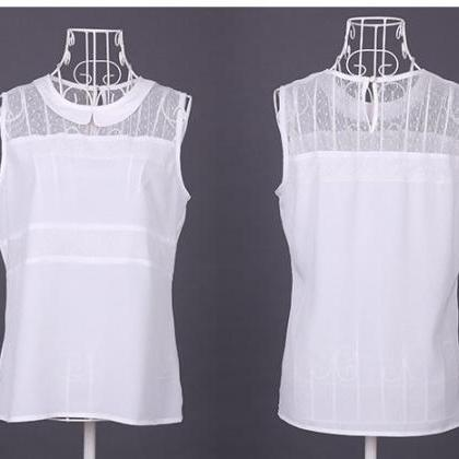 2455792fea9392 ... Blouse Sleeveless Shirt Wear To Work Shirt 2 Colors. New Women's Doll  Neck Chiffon Blous.. New Women's Doll Neck Chiffon Blous.