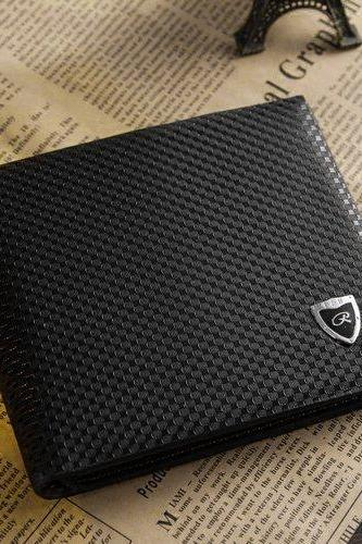 New Men's Boys' Classic Fashion Dot Pattern Leather Pockets Credit/ID Cards Holder Purse Wallet