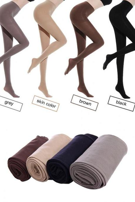 Women's 4 Pairs Sexy Solid Color Stretchy Snagging Resistance Tights