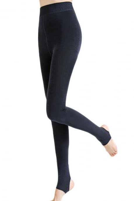 Women's Solid Seamless Elastic Thin Open-Toed Foot Tights