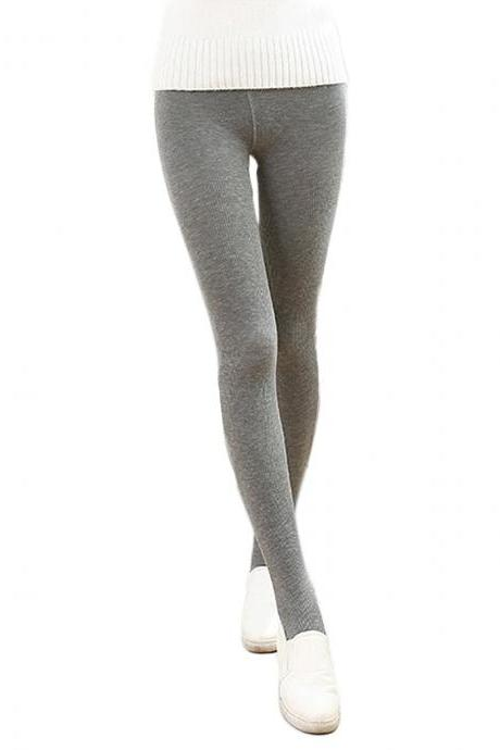 Women's Solid Vertical Stripe Seamless Elastic Open-Toed Thin Foot Tights