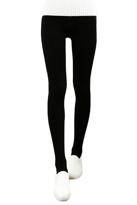 Women's Solid Matte Slim Elastic Open-Toed Foot Tights