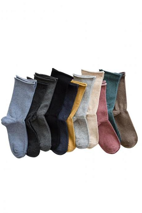 Women's Solid Sweet Girl's Breathable Socks