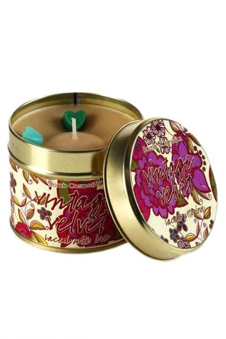 Retro Velvet Rose Geranium Essential Oil Scented Candle