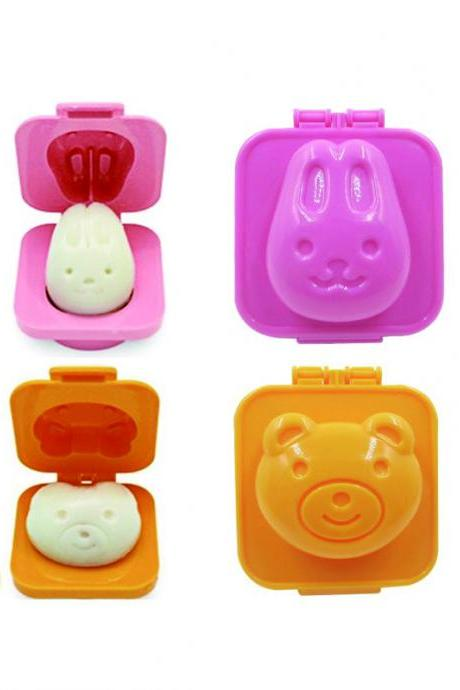 Rabbit and Bear Shape DIY Rice Ball Mould