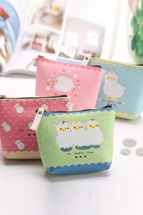 Cute Candy Color Sheep Pattern Coin Purse