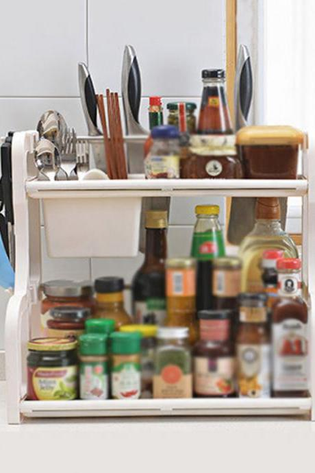 Kitchen Use Double Layers Seasoning Organizer